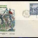 Sobre y Sello conmemorativo de los 150 Años de la Batalla de Maipú, emitidos en la República Argentina, el año 1968