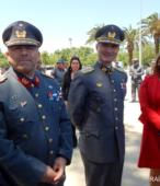 Padre Raúl Arcila, Coronel Marcelo Núñez, Coronel Edward Slater y Alcaldesa Kathy Barriga.