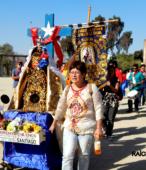 Bailes Religiosos llegando al Templo Votivo de Maipú , en la Fiesta de la Promesa 2018, el sábado 17 por la tarde (10)
