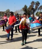 Bailes Religiosos llegando al Templo Votivo de Maipú , en la Fiesta de la Promesa 2018, el sábado 17 por la tarde (11)