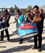 Bailes Religiosos llegando al Templo Votivo de Maipú , en la Fiesta de la Promesa 2018, el sábado 17 por la tarde (12)