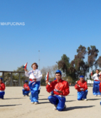 Bailes Religiosos llegando al Templo Votivo de Maipú , en la Fiesta de la Promesa 2018, el sábado 17 por la tarde (14)