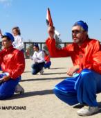 Bailes Religiosos llegando al Templo Votivo de Maipú , en la Fiesta de la Promesa 2018, el sábado 17 por la tarde (16)