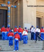 Bailes Religiosos llegando al Templo Votivo de Maipú , en la Fiesta de la Promesa 2018, el sábado 17 por la tarde (3)
