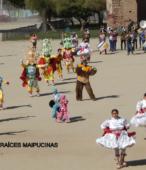 Bailes Religiosos llegando al Templo Votivo de Maipú , en la Fiesta de la Promesa 2018, el sábado 17 por la tarde (4)
