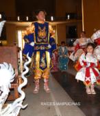 Bailes Religiosos llegando al Templo Votivo de Maipú , en la Fiesta de la Promesa 2018, el sábado 17 por la tarde (6)