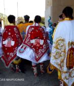 Bailes Religiosos llegando al Templo Votivo de Maipú , en la Fiesta de la Promesa 2018, el sábado 17 por la tarde (8)
