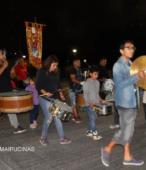 Fiesta de la Promesa 2018 en el Santuario de Maipú. Entrada de Pueblo de los Bailes concurrentes, el sábado 17 por la noche (10)
