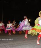 Fiesta de la Promesa 2018 en el Santuario de Maipú. Entrada de Pueblo de los Bailes concurrentes, el sábado 17 por la noche (14)