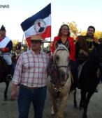 Alcaldesa de Maipú, Sra. Kathy Barriga, llega al lugar de la ceremonia montada a caballo (4)