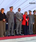 Autoridades civiles y militares que presidieron la ceremonia de la comunidad de Maipú, recordatoria de los 200 años de la Batalla del 5 de abril de 1818 (1)