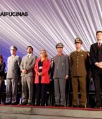 Autoridades civiles y militares que presidieron la ceremonia de la comunidad de Maipú, recordatoria de los 200 años de la Batalla del 5 de abril de 1818 (10)