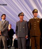 Autoridades civiles y militares que presidieron la ceremonia de la comunidad de Maipú, recordatoria de los 200 años de la Batalla del 5 de abril de 1818 (4)