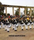 Banda del Colegio Patricio Mekis de Maipú, que acompañó el paso de las instituciones y fuerzas vivas de la comuna (2)