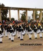 Banda del Colegio Patricio Mekis de Maipú, que acompañó el paso de las instituciones y fuerzas vivas de la comuna (3)