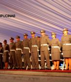 Delegación de Alumnos Dragoneantes de la Escuela de Suboficiales del Ejército, asistente a la ceremonia.