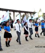 Delegaciones de todos los colegios de la Corporación Municipal de Maipú, tomaron parte en el desfile cívico efectuado en esta ocasión (1)