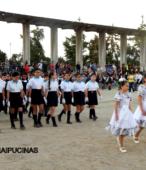 Delegaciones de todos los colegios de la Corporación Municipal de Maipú, tomaron parte en el desfile cívico efectuado en esta ocasión (13)