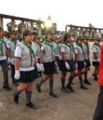 Delegaciones de todos los colegios de la Corporación Municipal de Maipú, tomaron parte en el desfile cívico efectuado en esta ocasión (14)