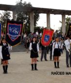 Delegaciones de todos los colegios de la Corporación Municipal de Maipú, tomaron parte en el desfile cívico efectuado en esta ocasión (15)