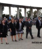 Delegaciones de todos los colegios de la Corporación Municipal de Maipú, tomaron parte en el desfile cívico efectuado en esta ocasión (17)