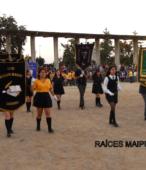Delegaciones de todos los colegios de la Corporación Municipal de Maipú, tomaron parte en el desfile cívico efectuado en esta ocasión (19)