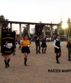 Delegaciones de todos los colegios de la Corporación Municipal de Maipú, tomaron parte en el desfile cívico efectuado en esta ocasión (20)