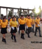Delegaciones de todos los colegios de la Corporación Municipal de Maipú, tomaron parte en el desfile cívico efectuado en esta ocasión (22)