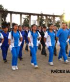 Delegaciones de todos los colegios de la Corporación Municipal de Maipú, tomaron parte en el desfile cívico efectuado en esta ocasión (23)