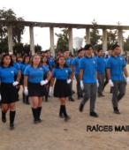 Delegaciones de todos los colegios de la Corporación Municipal de Maipú, tomaron parte en el desfile cívico efectuado en esta ocasión (24)