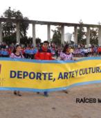 Delegaciones de todos los colegios de la Corporación Municipal de Maipú, tomaron parte en el desfile cívico efectuado en esta ocasión (25)