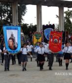 Delegaciones de todos los colegios de la Corporación Municipal de Maipú, tomaron parte en el desfile cívico efectuado en esta ocasión (6)