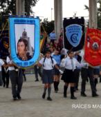 Delegaciones de todos los colegios de la Corporación Municipal de Maipú, tomaron parte en el desfile cívico efectuado en esta ocasión (7)