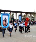 Delegaciones de todos los colegios de la Corporación Municipal de Maipú, tomaron parte en el desfile cívico efectuado en esta ocasión (8)