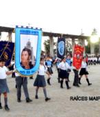 Delegaciones de todos los colegios de la Corporación Municipal de Maipú, tomaron parte en el desfile cívico efectuado en esta ocasión (9)