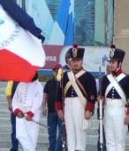La explanada del Templo Votivo fue el lugar de la ceremonia con que la comunidad de Maipú conmemoró el Bicentenario de la Batalla del 5 de Abril de 1818 (1)