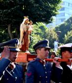 Las imágenes de la Virgen del Carmen peregrinaron desde Arica y Punta Arenas hacia Santiago, pasando por los diferentes cuarteles y reparticiones del Ejército (12)