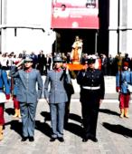 Las imágenes de la Virgen del Carmen peregrinaron desde Arica y Punta Arenas hacia Santiago, pasando por los diferentes cuarteles y reparticiones del Ejército (13)