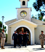 Las imágenes de la Virgen del Carmen peregrinaron desde Arica y Punta Arenas hacia Santiago, pasando por los diferentes cuarteles y reparticiones del Ejército (15)