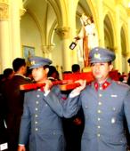 Las imágenes de la Virgen del Carmen peregrinaron desde Arica y Punta Arenas hacia Santiago, pasando por los diferentes cuarteles y reparticiones del Ejército (16)