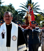 Las imágenes de la Virgen del Carmen peregrinaron desde Arica y Punta Arenas hacia Santiago, pasando por los diferentes cuarteles y reparticiones del Ejército (18)