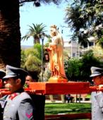 Las imágenes de la Virgen del Carmen peregrinaron desde Arica y Punta Arenas hacia Santiago, pasando por los diferentes cuarteles y reparticiones del Ejército (5)