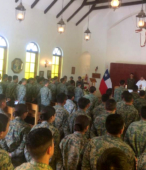 Los días previos al 5 de abril. las dos imágenes permanecieron en la Escuela de Suboficiales del Ejército, donde fueron veneradas por el personal y alumnos dragoneantes (2)
