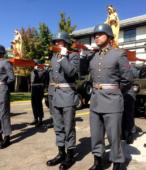 Los días previos al 5 de abril. las dos imágenes permanecieron en la Escuela de Suboficiales del Ejército, donde fueron veneradas por el personal y alumnos dragoneantes (5)