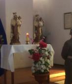 Los días previos al 5 de abril. las dos imágenes permanecieron en la Escuela de Suboficiales del Ejército, donde fueron veneradas por el personal y alumnos dragoneantes (8)