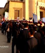 Solemne peregrinación a primera hota del día 5 de abril, desde el Estadio Municipal Coronel Santiago Bueras, hasta el Santuario Nacional de Maipú (1)
