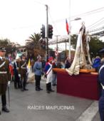 Solemne peregrinación a primera hota del día 5 de abril, desde el Estadio Municipal Coronel Santiago Bueras, hasta el Santuario Nacional de Maipú (12)