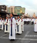 Solemne peregrinación a primera hota del día 5 de abril, desde el Estadio Municipal Coronel Santiago Bueras, hasta el Santuario Nacional de Maipú (13)