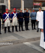 Solemne peregrinación a primera hota del día 5 de abril, desde el Estadio Municipal Coronel Santiago Bueras, hasta el Santuario Nacional de Maipú (16)