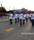 Solemne peregrinación a primera hota del día 5 de abril, desde el Estadio Municipal Coronel Santiago Bueras, hasta el Santuario Nacional de Maipú (18)